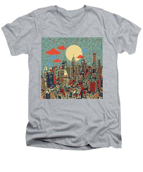 Philadelphia Dream 2 Men's V-Neck T-Shirt by Bekim Art