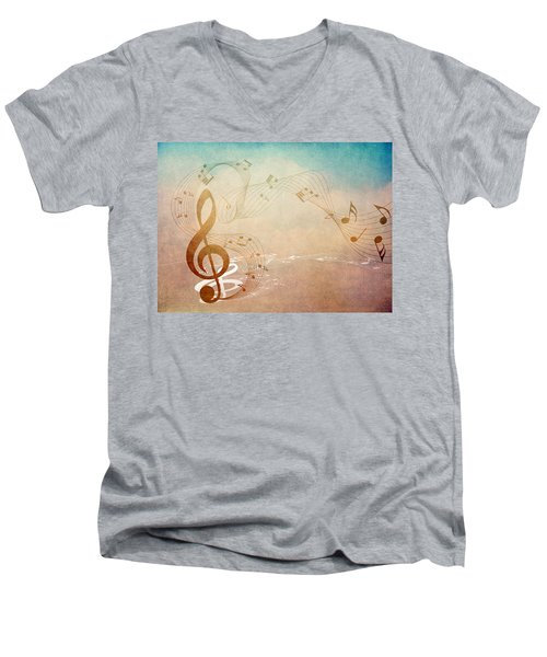 Please Dont Stop The Music Men's V-Neck T-Shirt by Angelina Vick