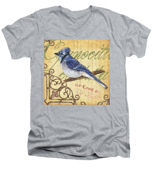 Pretty Bird 4 Men's V-Neck T-Shirt by Debbie DeWitt