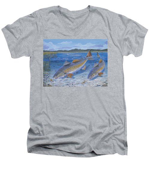 Red Creek In0010 Men's V-Neck T-Shirt by Carey Chen