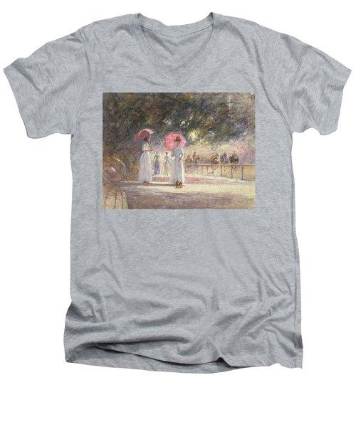 Rotten Row Men's V-Neck T-Shirt by Harry Fidler