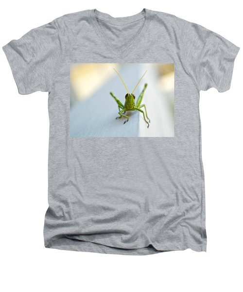 Staring At Me Men's V-Neck T-Shirt by Shelby  Young