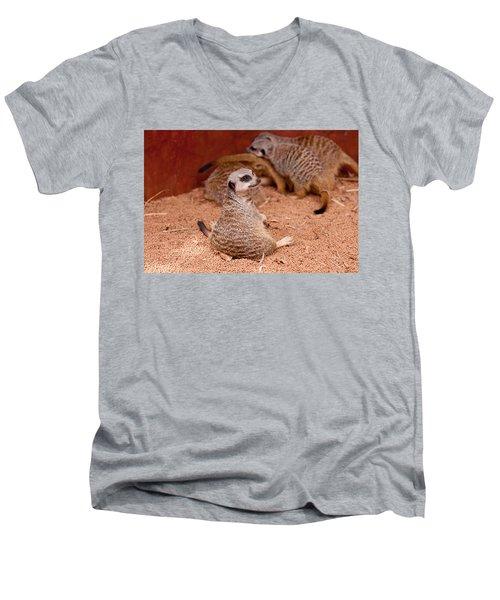 The Bored Babysitter Men's V-Neck T-Shirt by Michelle Wrighton