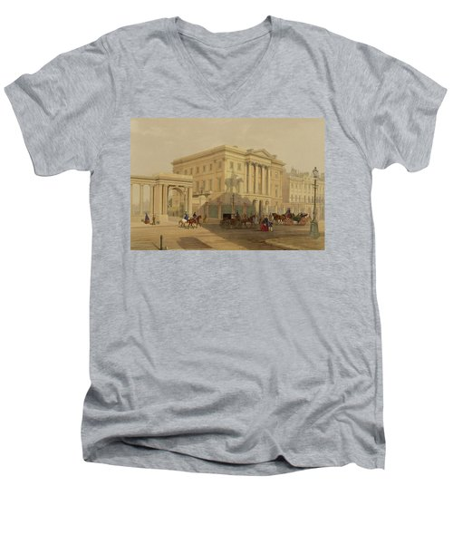 The Exterior Of Apsley House, 1853 Men's V-Neck T-Shirt by English School