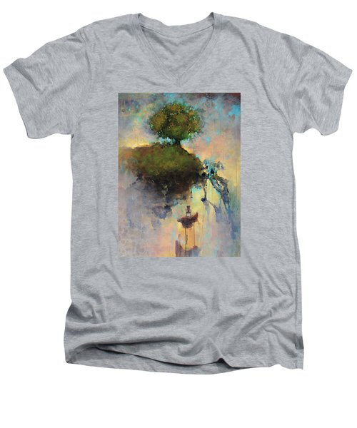 The Hiding Place Men's V-Neck T-Shirt by Joshua Smith