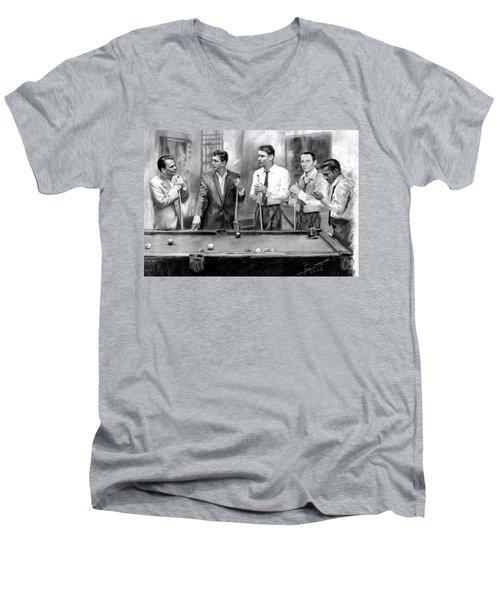 The Rat Pack Men's V-Neck T-Shirt by Viola El