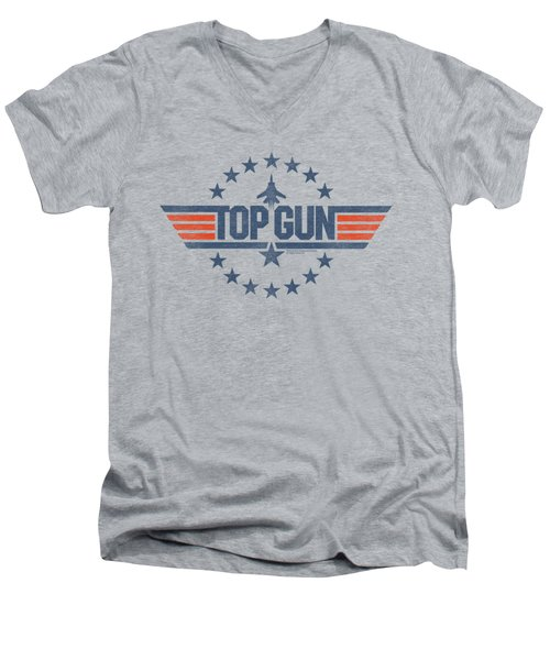 Top Gun - Star Logo Men's V-Neck T-Shirt by Brand A
