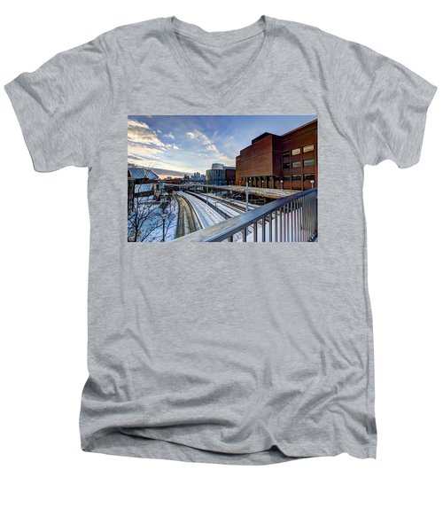 University Of Minnesota Men's V-Neck T-Shirt by Amanda Stadther
