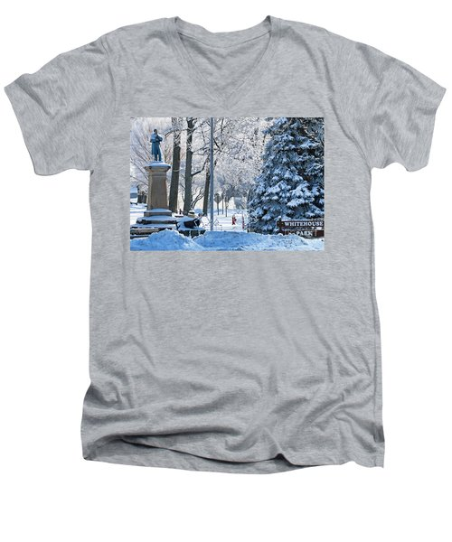 Whitehouse Village Park  7360 Men's V-Neck T-Shirt by Jack Schultz
