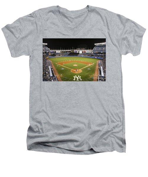 Yankee Stadium Men's V-Neck T-Shirt by Chuck Spang