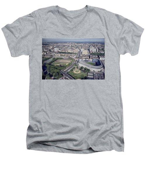 Yankee Stadium Men's V-Neck T-Shirt by Mountain Dreams