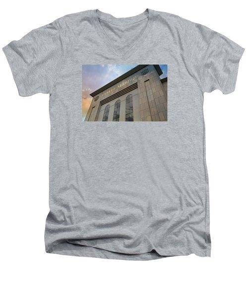 Yankee Stadium Men's V-Neck T-Shirt by Stephen Stookey
