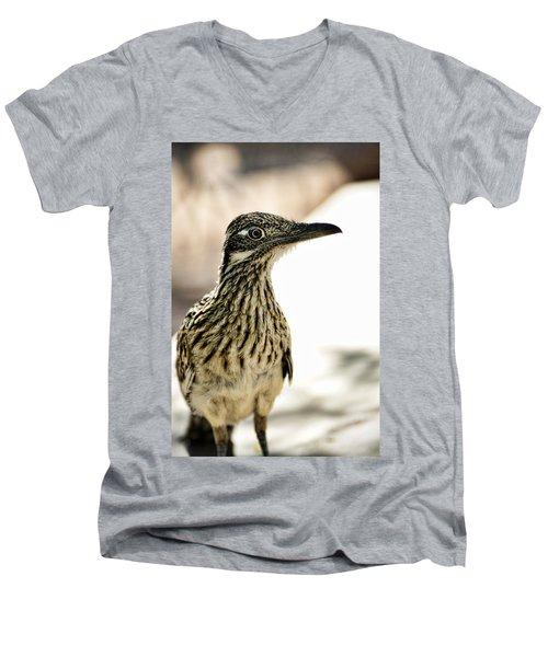 Greater Roadrunner  Men's V-Neck T-Shirt by Saija  Lehtonen