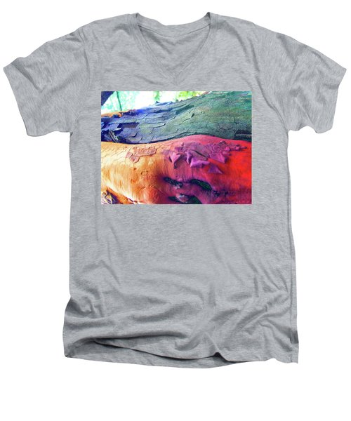 Men's V-Neck T-Shirt featuring the digital art Celebration by Richard Laeton
