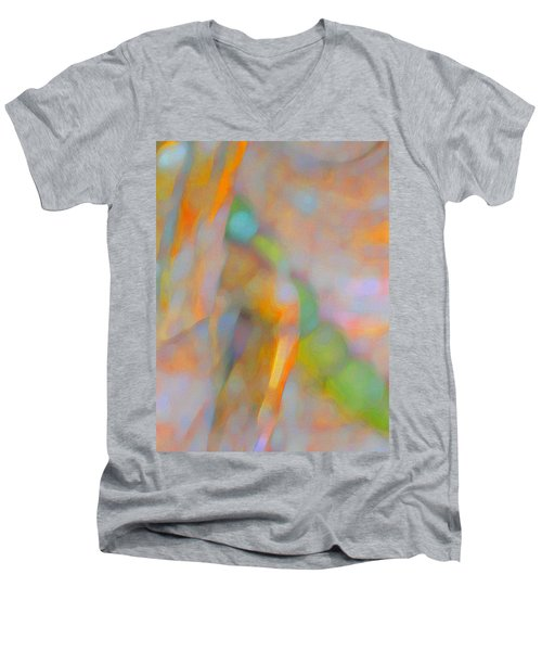 Men's V-Neck T-Shirt featuring the digital art Comfort by Richard Laeton