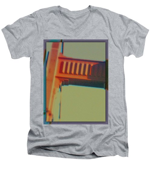 Men's V-Neck T-Shirt featuring the digital art Coming In by Richard Laeton