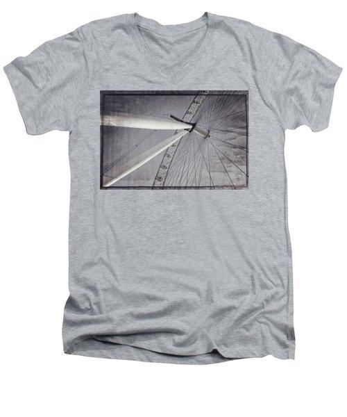Eye On London Men's V-Neck T-Shirt by Joan Carroll