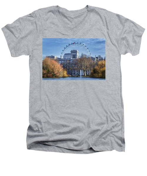 Eyeing The View Men's V-Neck T-Shirt by Joan Carroll