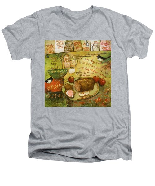 Irish Brown Bread Men's V-Neck T-Shirt by Jen Norton