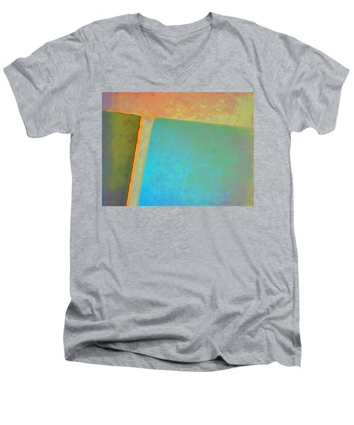 Men's V-Neck T-Shirt featuring the digital art My Love by Richard Laeton