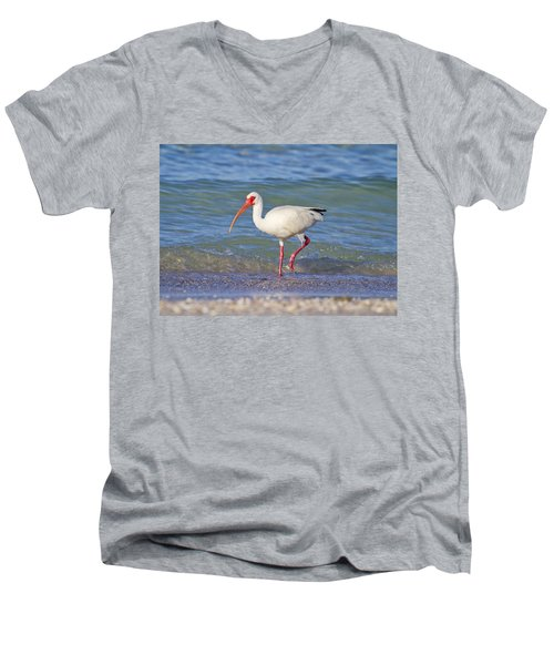 One Step At A Time Men's V-Neck T-Shirt by Betsy Knapp