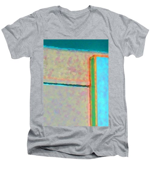 Men's V-Neck T-Shirt featuring the digital art Up And Over by Richard Laeton