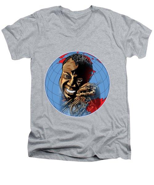 Louis. Men's V-Neck T-Shirt by Andrzej Szczerski