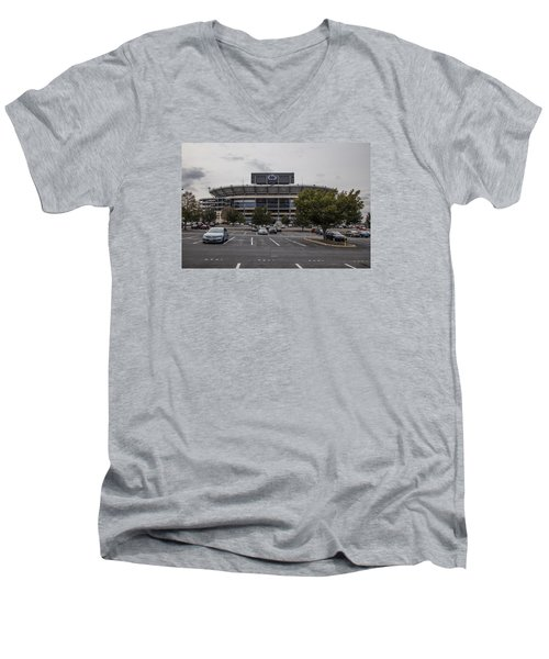Beaver Stadium Penn State  Men's V-Neck T-Shirt by John McGraw