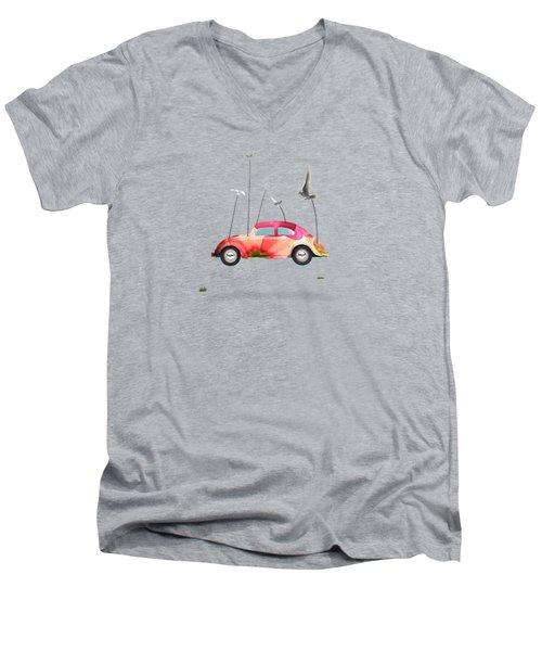 Suriale Cars  Men's V-Neck T-Shirt by Mark Ashkenazi