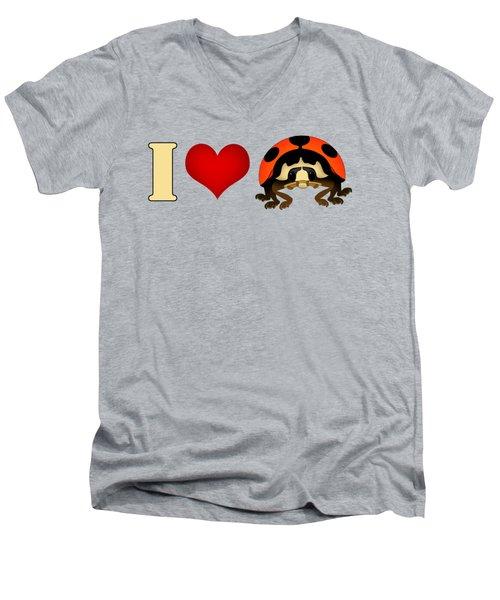 I Love Ladybugs Men's V-Neck T-Shirt by Sarah Greenwell