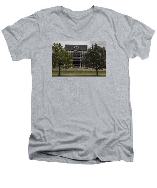 Penn State Beaver Stadium  Men's V-Neck T-Shirt by John McGraw