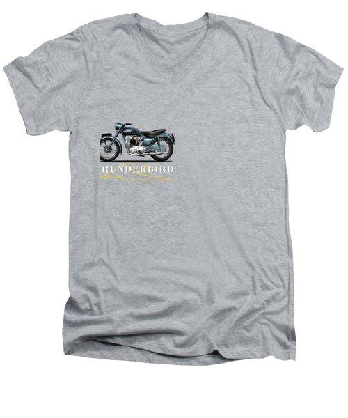 Triumph Thunderbird 1955 Men's V-Neck T-Shirt by Mark Rogan
