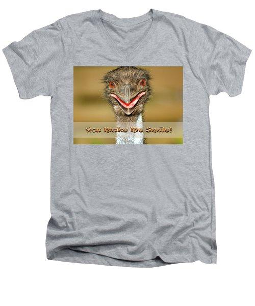 You Make Me Smile Men's V-Neck T-Shirt by Carolyn Marshall