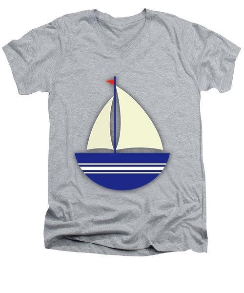 Nautical Collection Men's V-Neck T-Shirt by Marvin Blaine