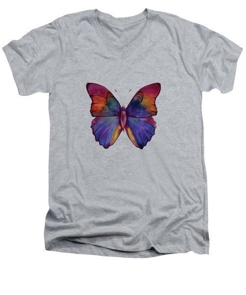 13 Narcissus Butterfly Men's V-Neck T-Shirt by Amy Kirkpatrick