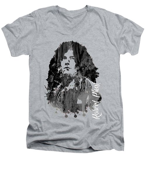 Robert Plant Collection Men's V-Neck T-Shirt by Marvin Blaine