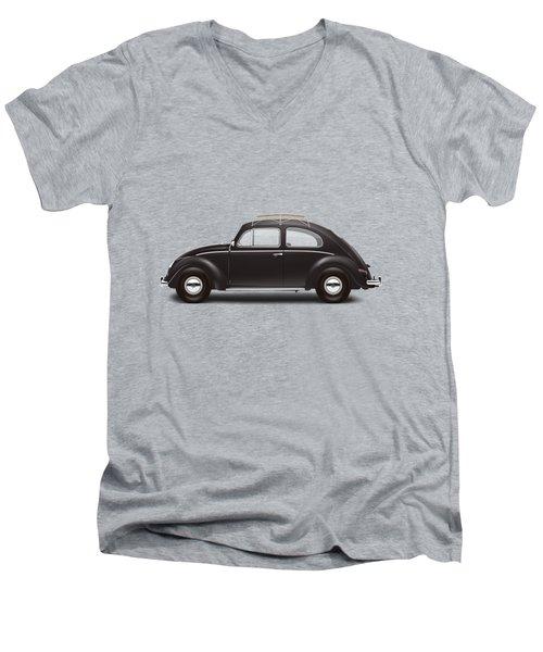 1953 Volkswagen Sedan - Black Men's V-Neck T-Shirt by Ed Jackson