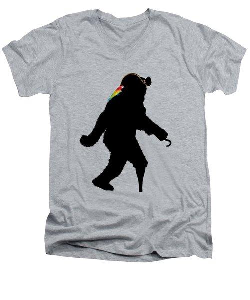 Gone Squatchin Fer Buried Treasure Men's V-Neck T-Shirt by Gravityx9  Designs