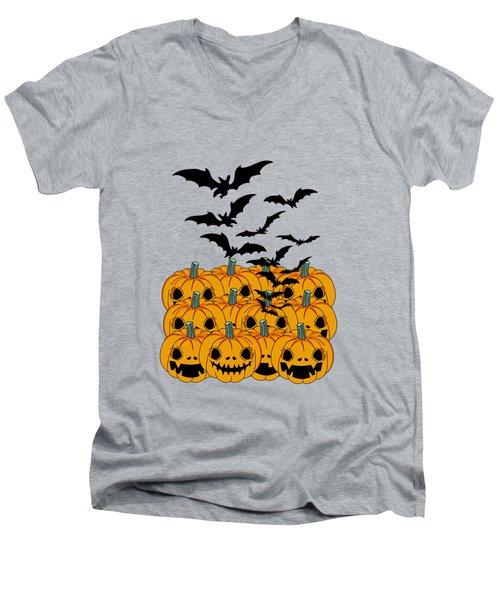 Pumpkin Men's V-Neck T-Shirt by Mark Ashkenazi