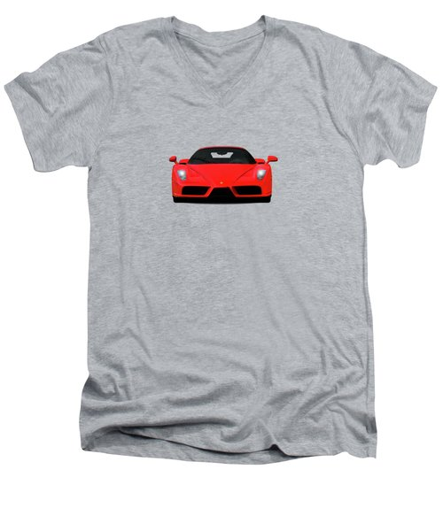The Ferrari Enzo Men's V-Neck T-Shirt by Mark Rogan