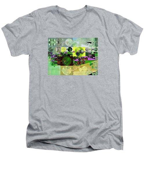 Abstract Painting - Black Bean Men's V-Neck T-Shirt by Vitaliy Gladkiy