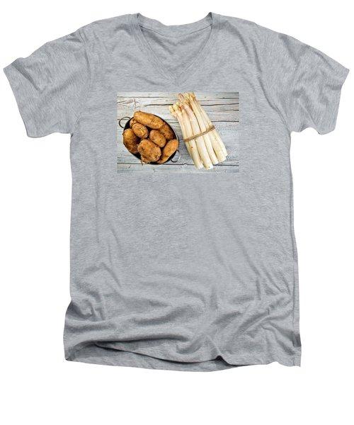 Asparagus Men's V-Neck T-Shirt by Nailia Schwarz