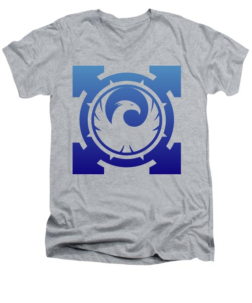 Phoenix Men's V-Neck T-Shirt by Frederick Holiday