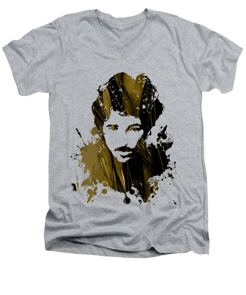 Bruce Springsteen Collection Men's V-Neck T-Shirt by Marvin Blaine
