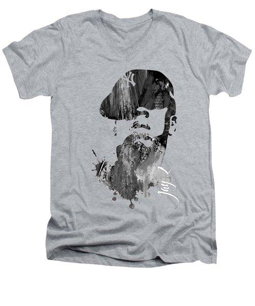 Jay Z Collection Men's V-Neck T-Shirt by Marvin Blaine