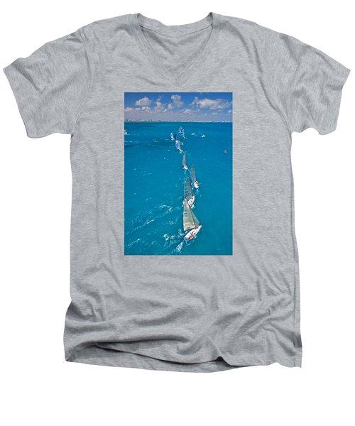 From On High Men's V-Neck T-Shirt by Steven Lapkin