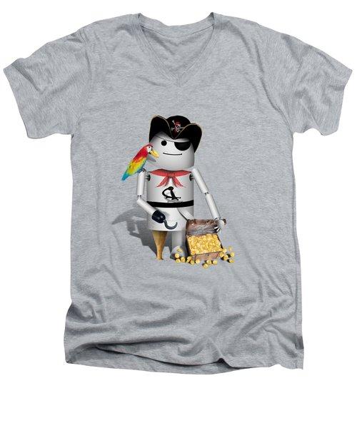 Robo-x9 The Pirate Men's V-Neck T-Shirt by Gravityx9  Designs