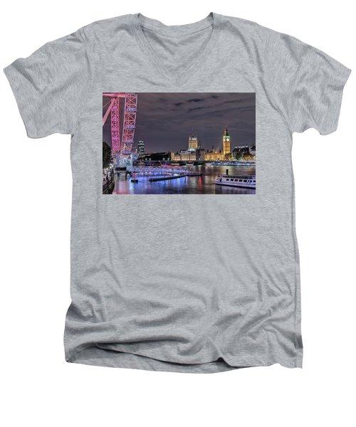 Westminster - London Men's V-Neck T-Shirt by Joana Kruse