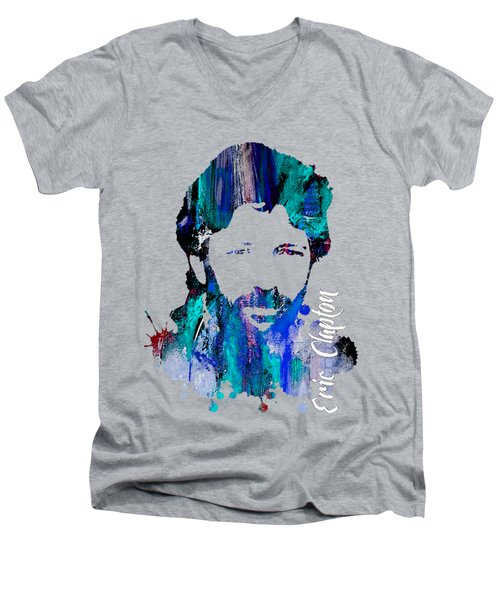 Eric Clapton Collection Men's V-Neck T-Shirt by Marvin Blaine