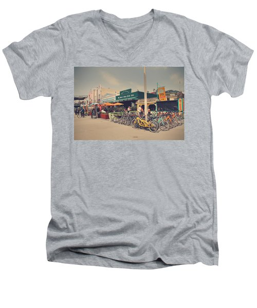 A Perfect Day For A Ride Men's V-Neck T-Shirt by Laurie Search